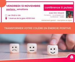 conférence - Transformer votre colère en énergie positive